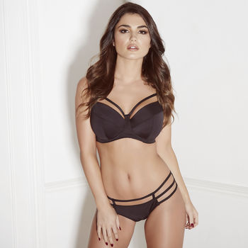 Black Louise Cage Bra