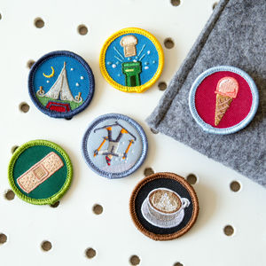 Alternative Merit Badge Patch - children's jewellery