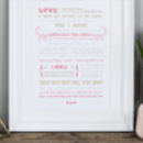 'Love Is' Wedding And Valentine's Print