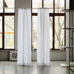 Stone Washed Rod Pocket Linen Curtain Panel - curtains