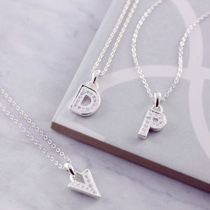 Modern Vegas Diamante Initial Necklace - necklaces & pendants