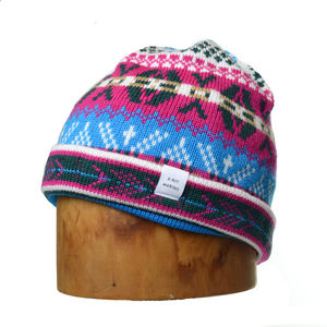 Cormack 'Burster' Turnup Merino Wool Beanie Hat - hats, scarves & gloves