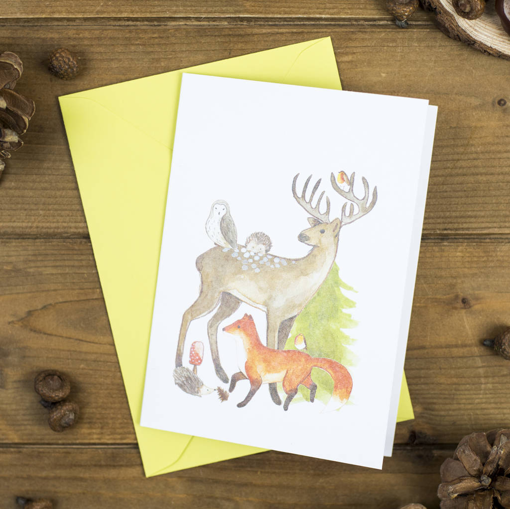Woodland Creatures Christmas Card