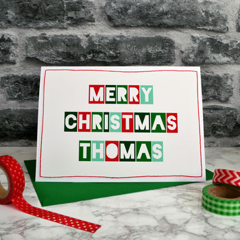 Personalised Childrens Christmas Card