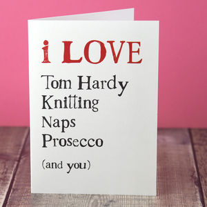 Things I Love Personalised Anniversary Card - cards & wrap