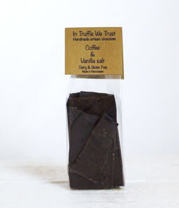 Coffee And Vanilla Salt Dark Chocolate Slab