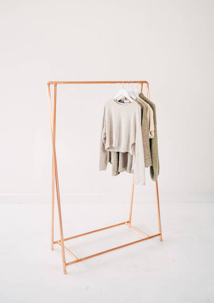 copper pipe a frame clothing rail by little deer ...