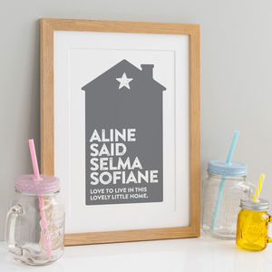Personalised Family Print - personalised