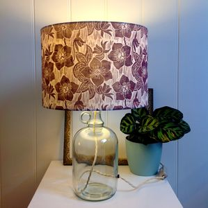 Hellebore Glass Bottle Table Lamp - table lamps