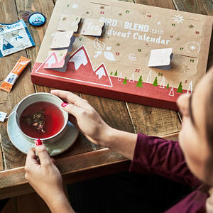 Tea Advent Calendar With Tote Bag - festive food & drink