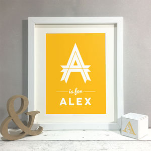 Personalised Name Letter Nursery Kids Print