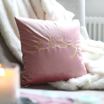 Personalised Velvet Square Cushion