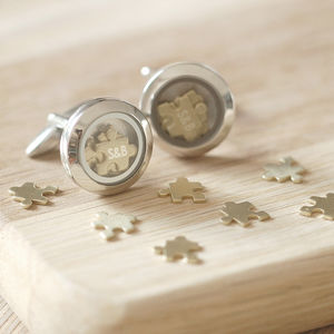 'I Love You To Pieces' Cufflinks - cufflinks