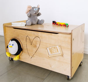 Funimals Buddy Personalised Animal Engraved Toy Box - storage