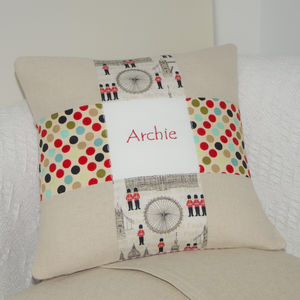 London Name Cushion - bedroom