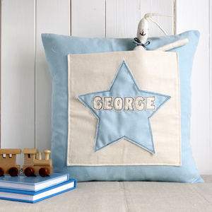 Personalised Pocket Cushion For Boys - children's room
