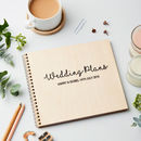 Personalised Wooden Wedding Planner Book