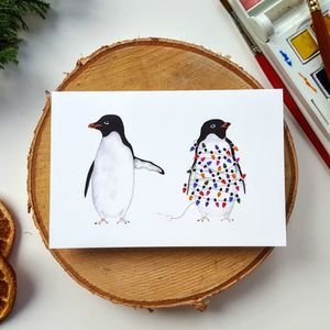 Silly Penguins Christmas Card Pack - cards & wrap