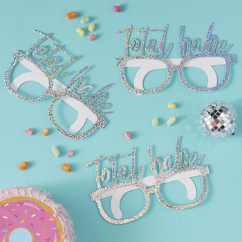 Iridescent Total Babe Party Fun Glasses Eight Pack
