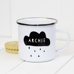 Personalised Cloud Enamel Mug