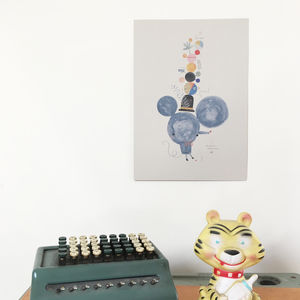 Mouse Print A3 - children's room
