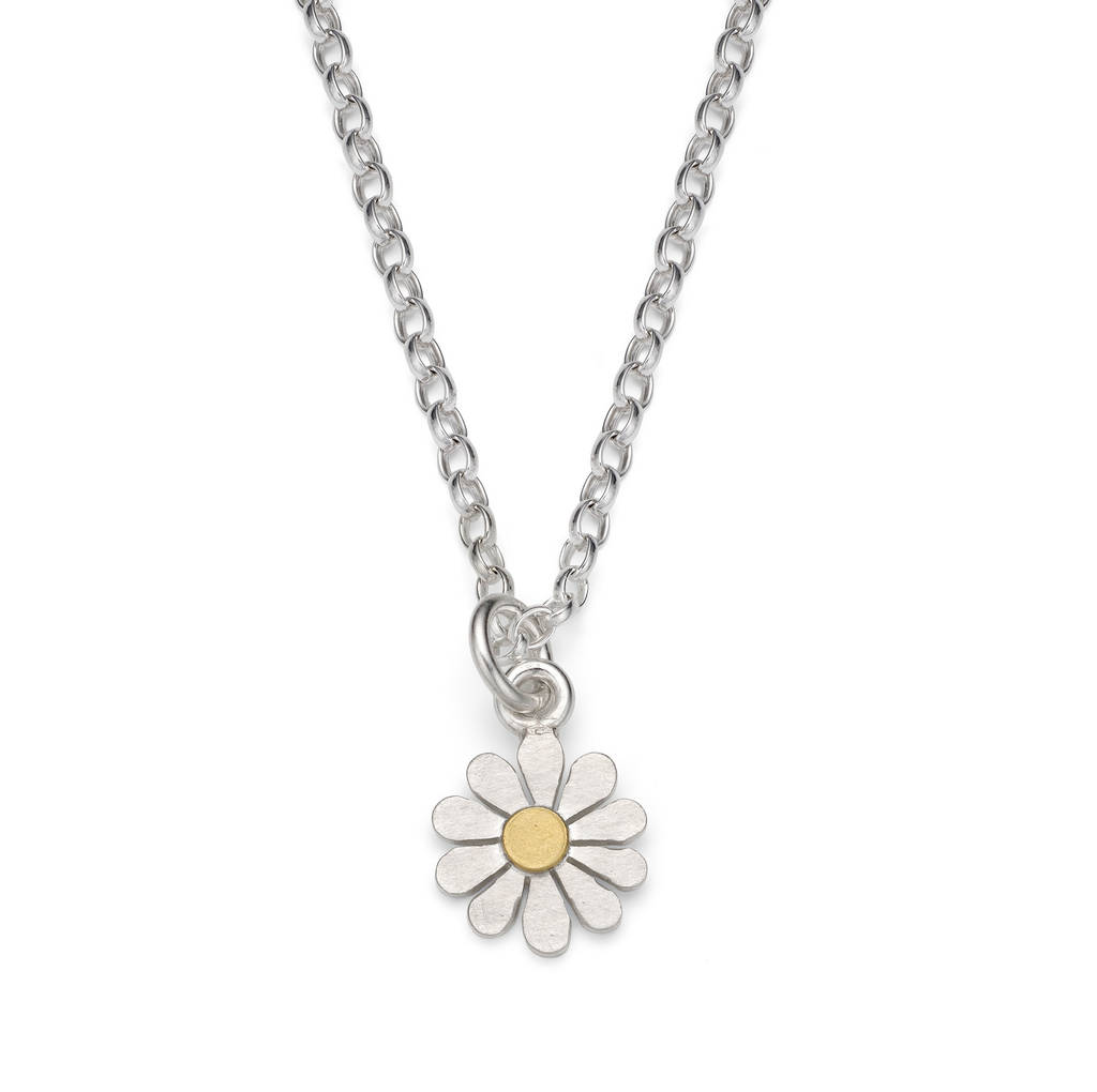 valentine necklace jewelry in women tiny silverhoo daisy pendant sterling flowers necklaces s item from for gift genuine silver day