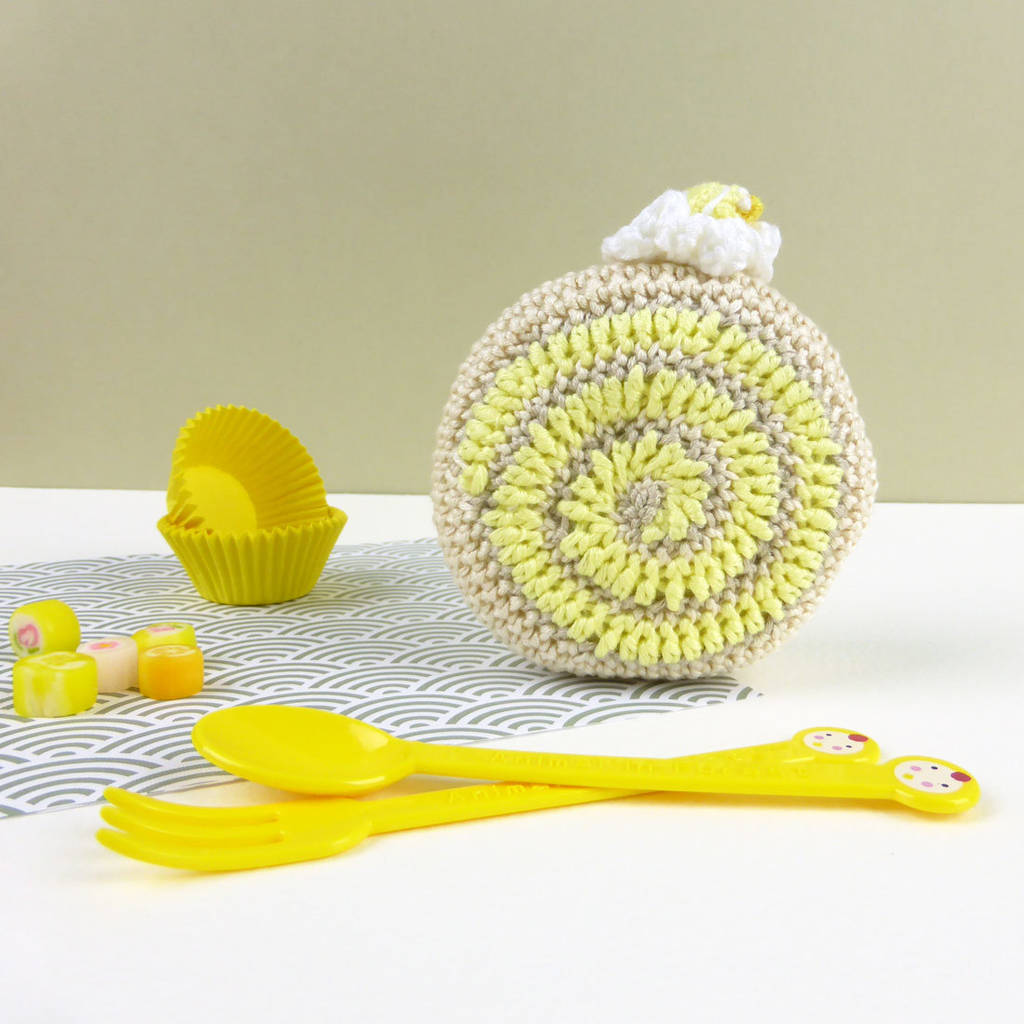 Crochet Cake Lemon Pretend Play Soft Toy
