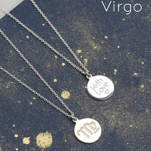 Sterling Silver Personalised Zodiac Necklace