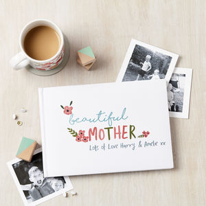 Personalised Floral Wording Photo Album - mother's day gifts