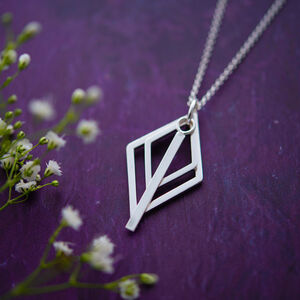Layered Geometric Necklace