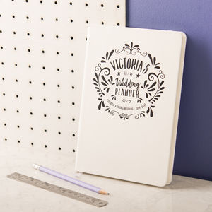 Personalised Wedding Planner Notebook - writing