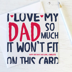 Love My/Our Dad/Daddy Birthday Card - cards & wrap
