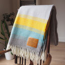 Personalised Wool Throw Engraved With Sonnet 116
