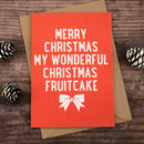 Fruitcake Christmas Card
