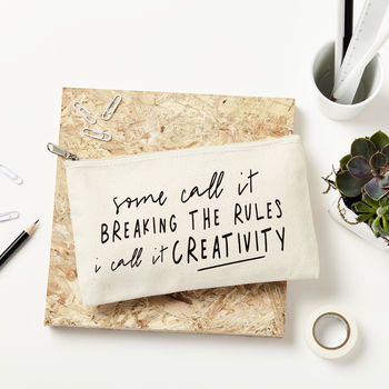'Breaking The Rules' Pencil Case