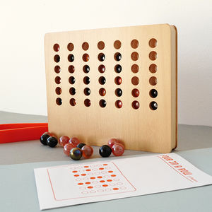 Wooden Four In A Row Game - board games