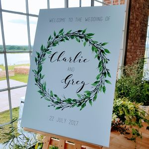 Personalised Welcome To Our Wedding Sign - outdoor wedding signs