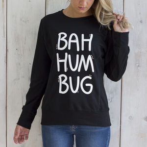 'Bah Hum Bug' Sparkly Christmas Jumper - hoodies & sweatshirts