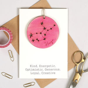 Personalised Horoscope Keepsake Birthday Card - birthday cards