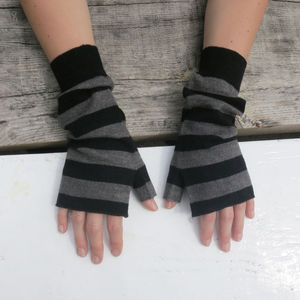 Fairtrade Yak Merino Wristwarmer Fingerless Gloves - gloves