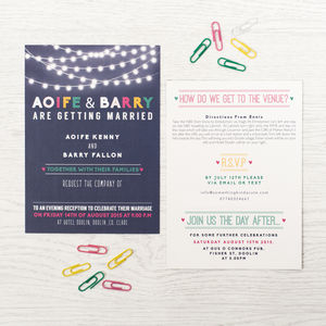 'Light Up The Night' Wedding Invitation - what's new