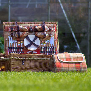 Grey Or Autumn Tartan Hamper For Four Or Six - picnics & barbecues