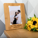 Personalised Mr And Mrs Wedding Bamboo Photo Board