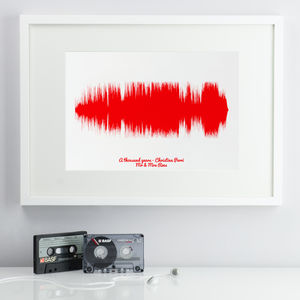 Personalised Favourite Song Sound Wave Print - personalised gifts