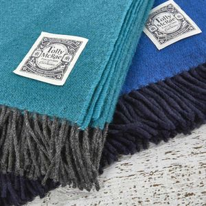 Cobalt Or Teal Super Soft Reversible Merino Throws