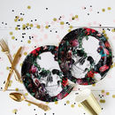 Halloween Floral Baroque Skull Party Plates