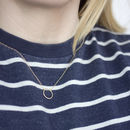 Minimalist Textured Circle Necklace