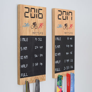 Personalised Pb Medal Chalkboard Wall Display