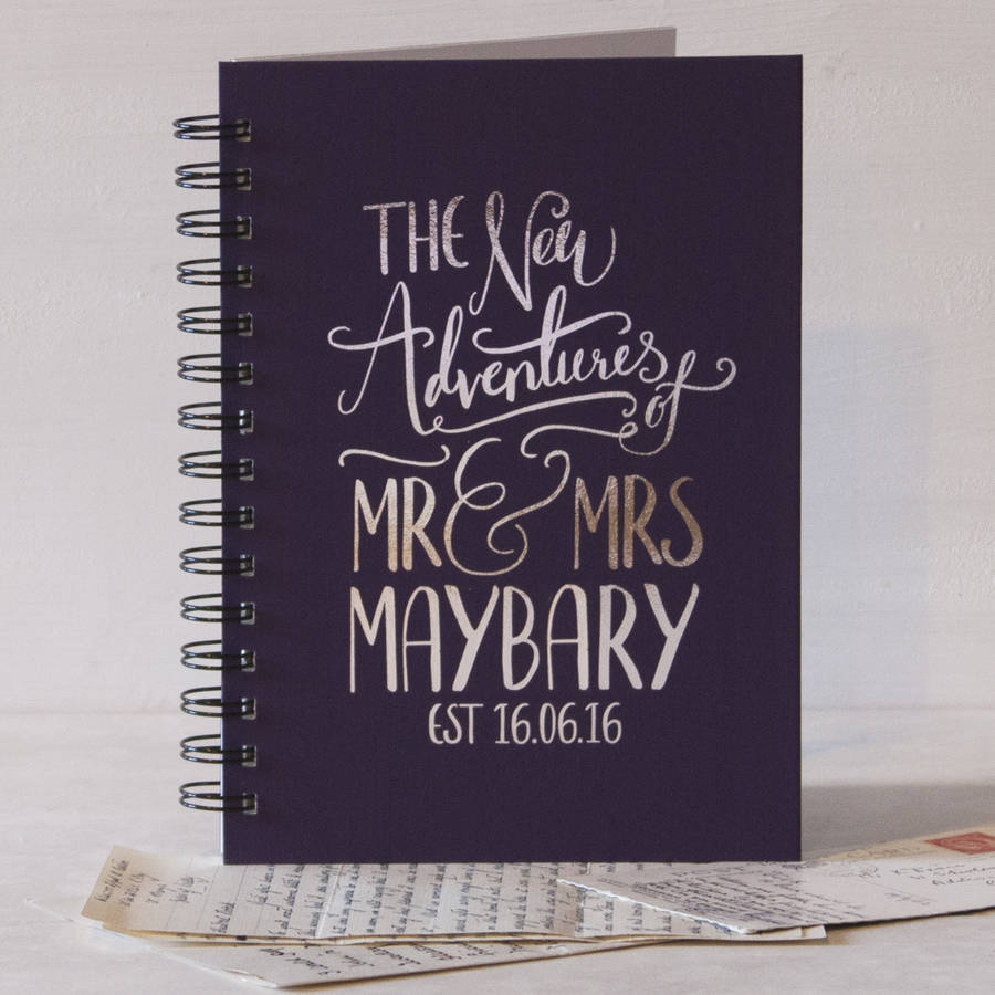 Personalised Wedding Gift Book : homepage > & SO THEY MADE > PERSONALISED MR AND MR WEDDING GIFT BOOK