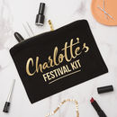 Personalised Festival/Glamping Make Up Bag